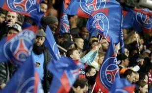 Des supporters du PSG au Parc des Princes contre Nantes, le 19 janvier 2014.