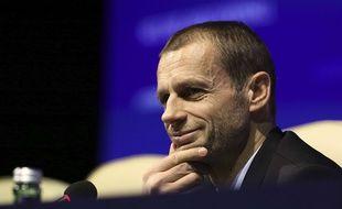 Aleksander Ceferin, le président de l'UEFA, le 26 février 2018 à Bratislava.
