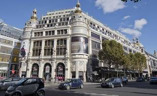 Le magasin Printemps, boulevard Haussmann, à Paris.