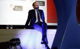 Edouard Philippe lors d'une réunion publique en vue des municipales au Havre.