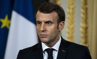 Emmanuel Macron, le 7 janvier 2020 à l'Elysée.