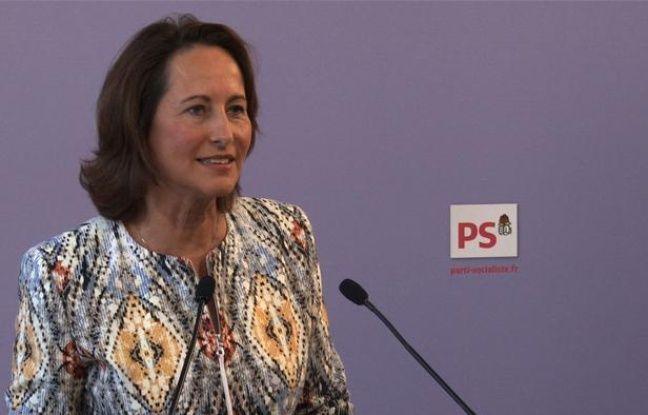 Ségolène Royal, le 10 août 2011, tient une conférence de presse au siège du Parti socialiste, à Paris.