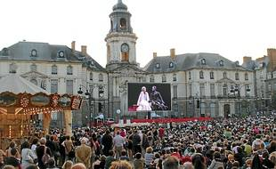 """En 2011, """"L'enlèvement au Sérail""""avait attiré la foule, place de la mairie."""