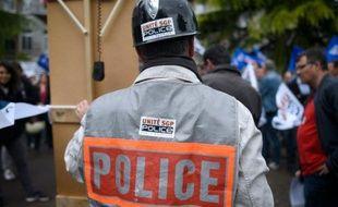Manifestation de policiers à Rennes le 18 mai 2016