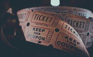 Illustration d'un ticket de cinéma.