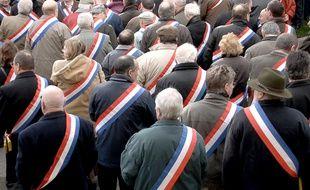 Image d'illustration. Une manifestation de maires à Clamecy (Nièvre), en mars 2008.