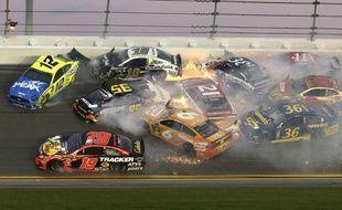La collision survenue lors du Daytona 500, le 17 février 2019 aux Etats-Unis.