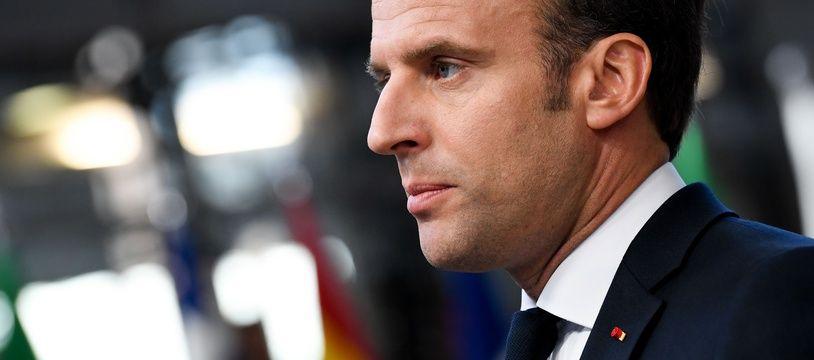 Emmanuel Macron, le 11 avril 2019 à Bruxelles.