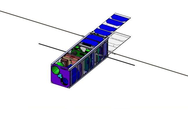 Schéma du mini-satellite PicSat.