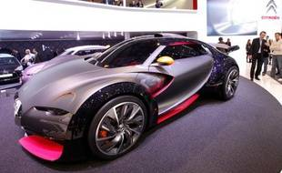 Le nouveau concept car Survol de Citroën à Genève, le 2 mars 2010