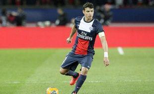 Thiago Silva contre Saint-Etienne le 16 mars 2014.