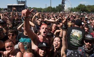Le public du Hellfest 2015 à Clisson.