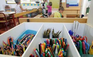 Dans une classe d'une école maternelle de Toulouse (Illustration)