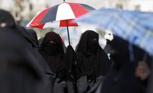 Des femmes portant le niqab