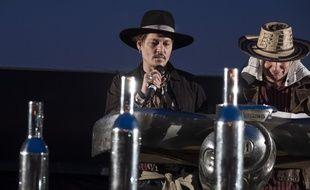 L'acteur Johnny Depp au festival de Glastonbury