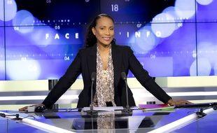 Christine Kelly sur le plateau de « Face à l'info » de CNews