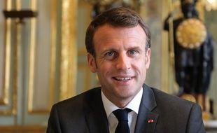 Emmanuel Macron à l'Elysée, le 12 avril 2019. Ludovic MARIN / AFP.