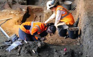De nombreux archéologues de l'Inrap ont travaillé sur le chantier de fouilles du couvent des Jacobins à Rennes.