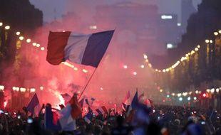 Paris, le 15 juillet 2018. De nombreuses femmes ont dénoncé des faits d'agressions sexuelles subis lors des rassemblements en l'honneur de l'Equipe de France de football.