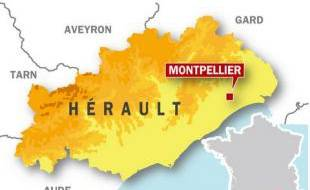 Carte de situation de Montpellier.