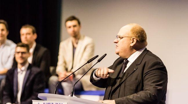 Franck de Lapersonne se présente pour le FN dans la Somme aux élections législatives de juin 2017. – SIPA