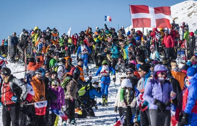 Les amateurs de ski alpinisme, qui n'hésitent pas à sortir les drapeaux, ne manqueraient pour rien au monde la Pierra Menta.
