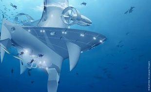 """C'est une """"sentinelle de la mer"""" unique au monde, dérivant au gré des courants océaniques, qui verra le jour en 2014: le vaisseau océanographique futuriste SeaOrbiter entre en phase de construction au printemps aux chantiers navals de Saint-Nazaire et Cherbourg."""