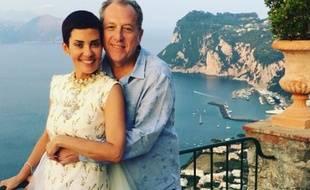 Cristina Cordula et son époux, Frédéric Cassin à Capri le 7 juin 2016.