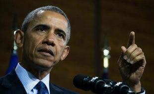Le président américain Barack Obama prononce un discours à Hanovre, le 25 avril 2016