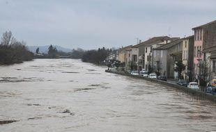 A Coursan, l'Aude a menacé de déborder entraînant, jeudi, la fermeture de l'axe ferroviaire entre Narbonne et Béziers.