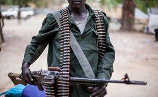 Un soldat des forces anti-gouvernementales le 4 mars 2014 à Malakal