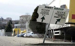 L'entrée du site Mory-Ducros à Saint-Etienne, le 29 janvier 2014