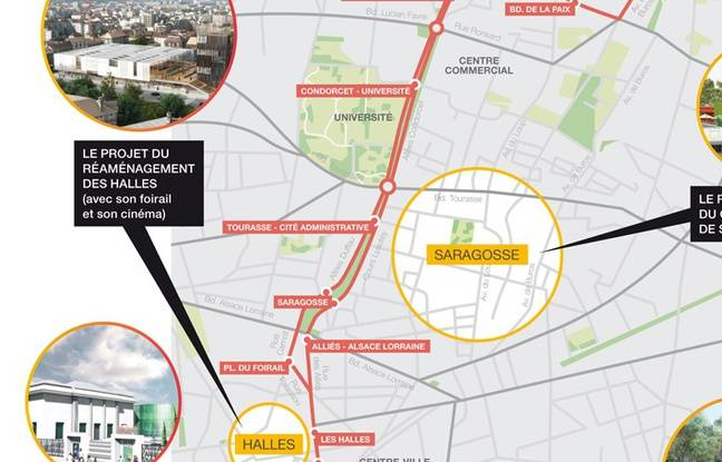 Le plan de circulation du Fébus, qui roulera en 2019 à Pau