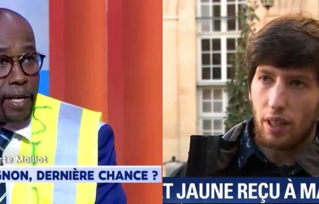 Les « gilets jaunes » Clément Jomie et Jason Herbert.