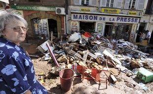 L'heure est au constat des dégâts aux Arcs-sur-Argens, après les inondations qui ont touché le Var, mardi 15juin 2010.