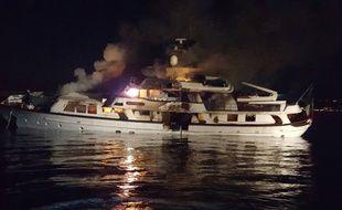Le yacht «If Only» peu avant de couler.