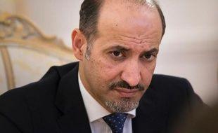 Le chef de l'opposition syrienne Ahmad Jarba, à Moscou le 4 février 2014