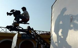 Illustration tournage de film