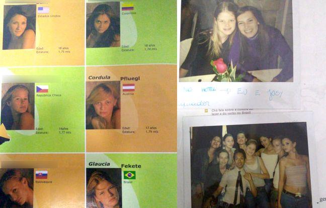 Des participantes au concours New Generation organisé le 25 août 2004 par l'agent Jean-Luc Brunel en Equateur (photos fournies par Glaucia Fekete).