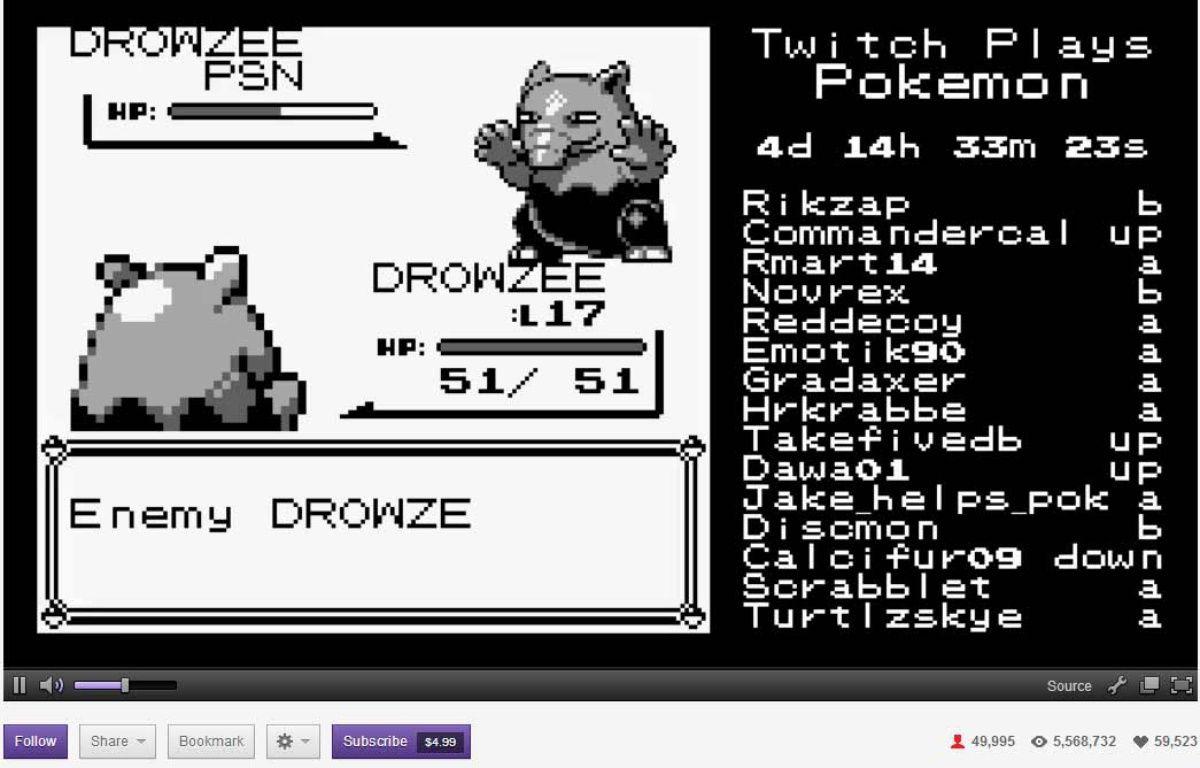 """capture d'écran de """"Twitch Plays Pokemon"""". –"""
