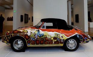 La Porsche de Janis Joplin lors d'une exposition en Caroline du Nord au Museum of Art à Raleigh en 2013