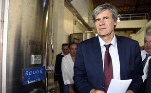Le ministre de l'Agriculture Stéphane Le Foll à La Redorte le 17 juillet 2014