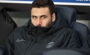 Salvatore Sirigu lors du match entre le PSG et le Shakhtar Donetsk le 9 décembre 2015.