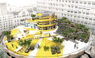 Le projet d'aménagement des toits du parking des Halles à Lyon
