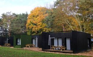 Le camping des Gayeulles à Rennes, où des hébergements dans des containers ont été installés.