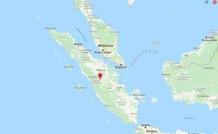 Vue de l'île de Sumatra en Indonésie