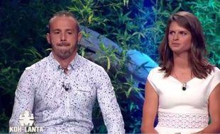 Frédéric et Clémentine, vendredi, sur le plateau de la finale de «Koh-Lanta».