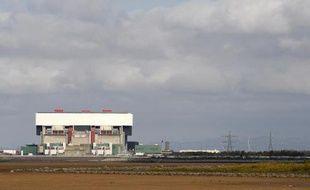 La centrale nucléaire Heysham 2 vue de la plage, le 24 septembre 2008, dans le nord-est de l'Angleterre