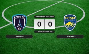Ligue 2, 13ème journée: Match nul entre le Paris FC et Sochaux (0-0)