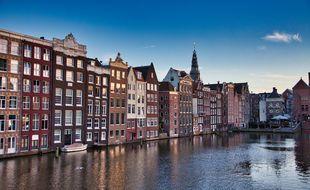 Une vue d'Amsterdam (illustration).